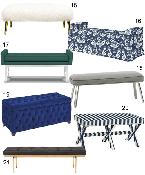 Modern Upholstered Benches For The Living Room