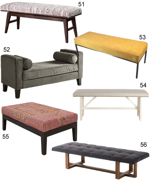 Modern Upholstered Benches For The Entry