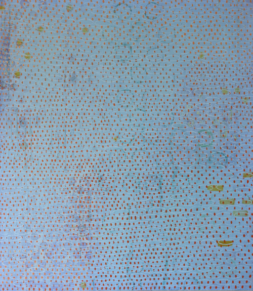 Encaustic Painting With Dots By Diane Ayott