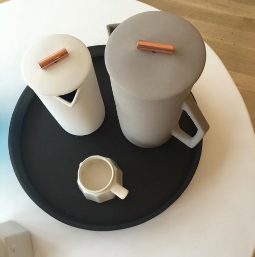Porcelain Teapot With Copper Accents