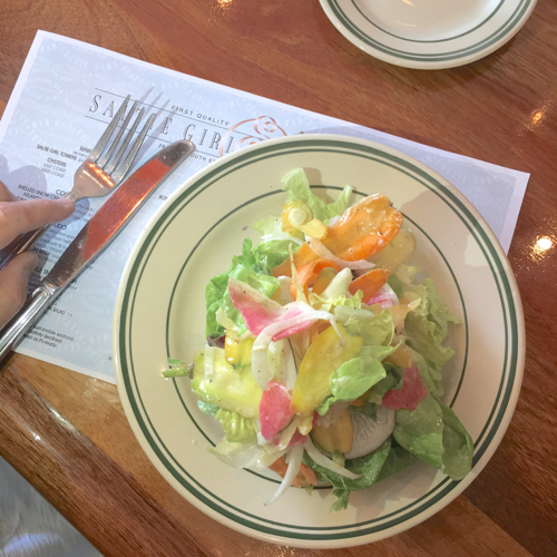 Green Salad At Saltie Girl