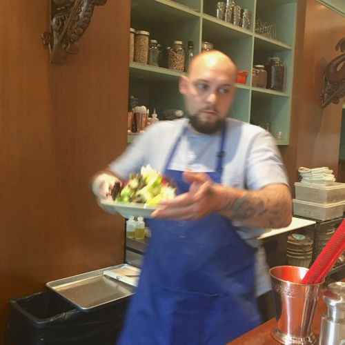 Chef Kyle Serves A Salad At Saltie Girl In Boston