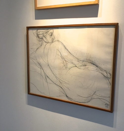 Nude Drawing by Fritz Bultman In Provincetown