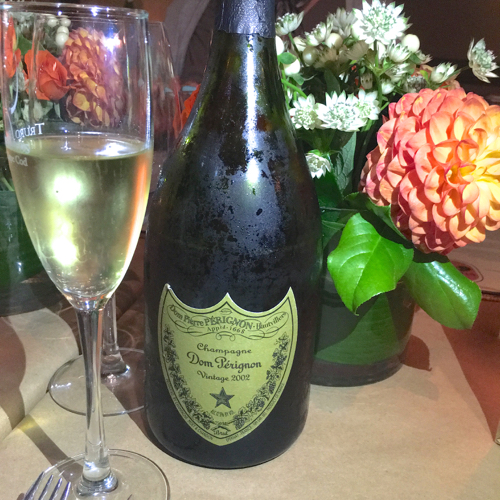 Dahlias and Dom Perignon Celebration