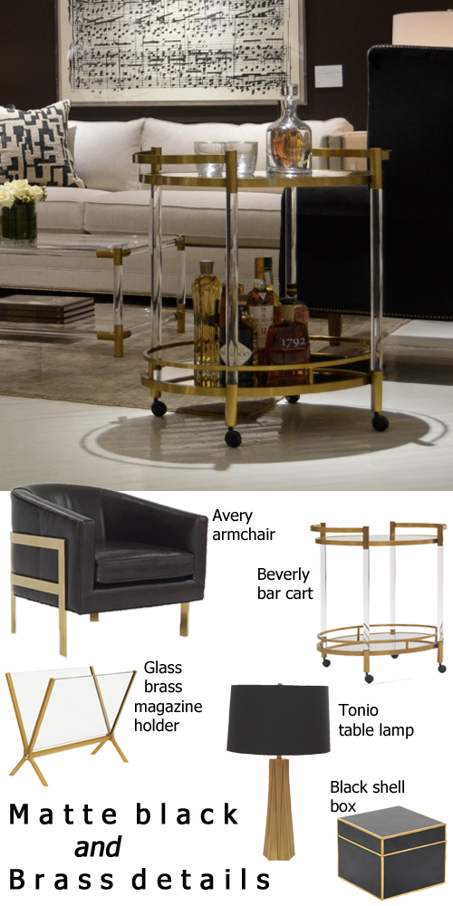 Fall Decor Trends Matte Black Finishes + Brass Details