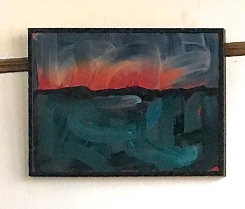Abstract Landscape Painting By Boston Artist Laura Allis-Richardson
