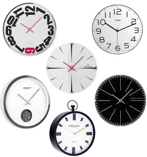Modern Black & White Wall Clocks