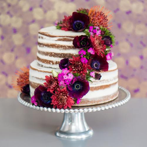 Naked Wedding Cake By Flour(ish) Bakery Boston