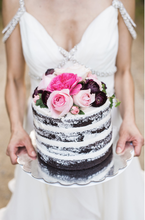 Naked Wedding Cake The French Sisters New Hampshire