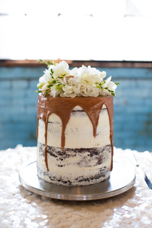 Naked Wedding Cake Katie Made Bakery Portland Maine