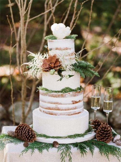 Naked Wedding Cake By Sweet Indulgences Boston