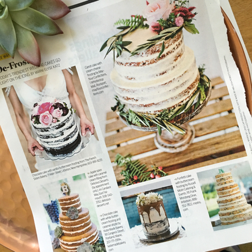 Boston Globe Magazine Wedding Cakes