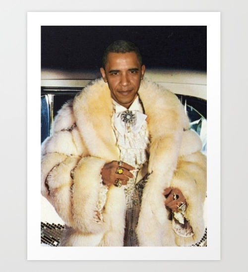 Photo Of Barack Obama As a Rapper