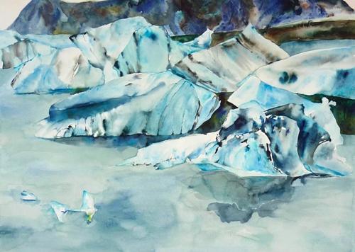 Iceberg Landscape Paintings By Lisa Goren In Boston