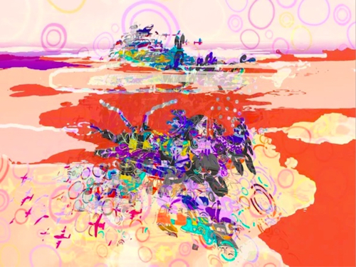 Colorful Abstract Painting By Karen Olsen Dunn