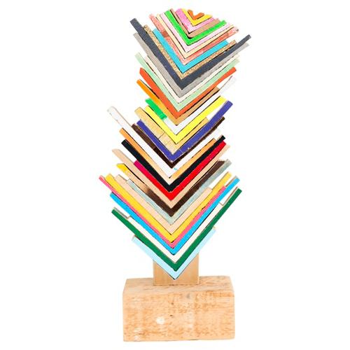 Abstract Wood Sculpture At Mass Art Auction