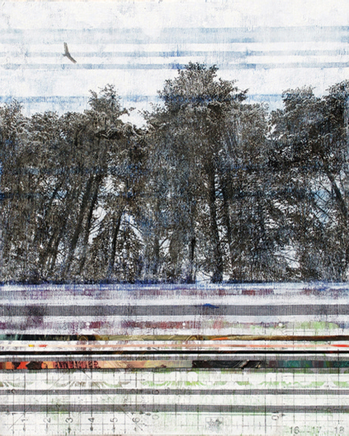 Abstracted Landscape At Mass Art Auction