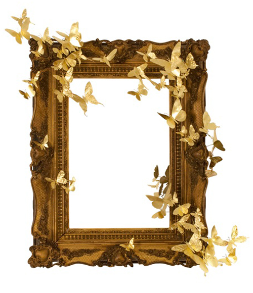 Frame With Butterflies By Paul Villinski At Mass Art Auction