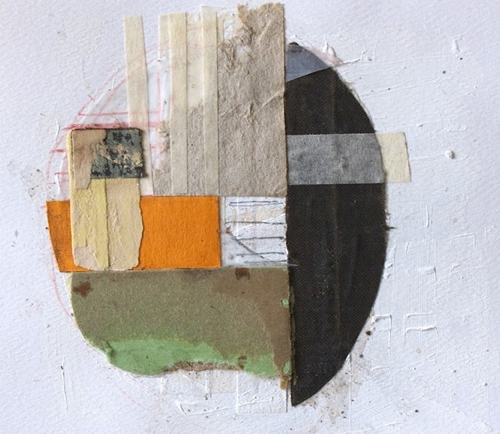Fabric And Thread Abstract Collage By Katie Dougherty