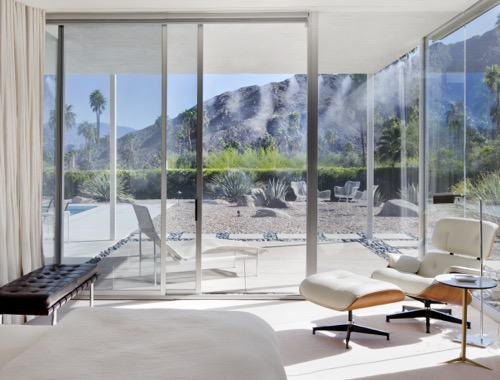 Palm Springs Modernist Paradise White Eames Chair