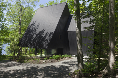 Contemporary House With Black Exterior In Canada
