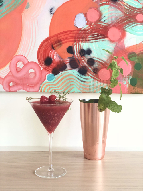 Raspberry Martini With Rose Gin Rose Gold Shaker