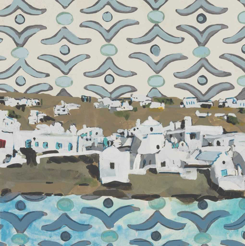 Lee Essex Doyle Travel Paintings Mykonos Memories