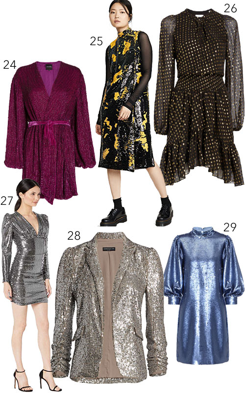 Party Dresses with Shine Sequin Glittery Cocktail Looks